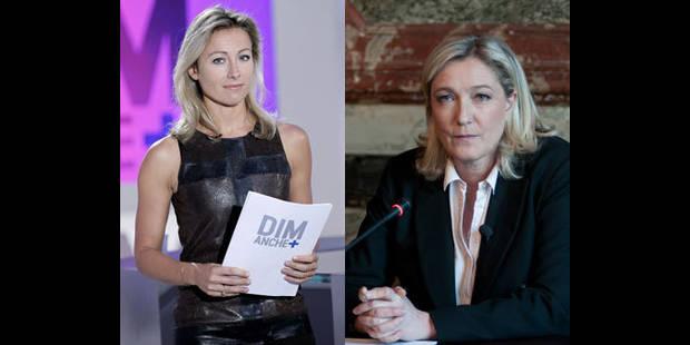 Interview mouvementée entre Marine Le Pen et Anne-Sophie Lapix - La DH