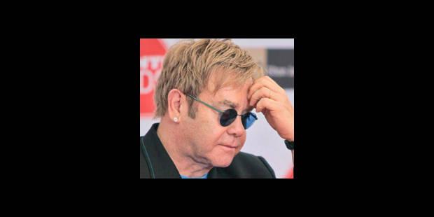 Elton John toujours malade - La DH