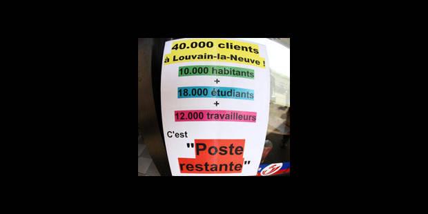 """Pour la Poste, l'occupation de Louvain-la-Neuve a """"changé de nature"""" - La DH"""