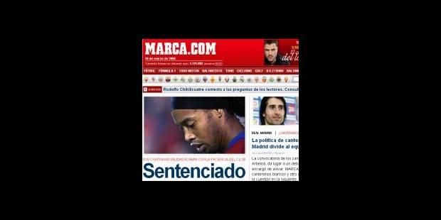 Ronaldinho et le Barca : la rupture - La DH