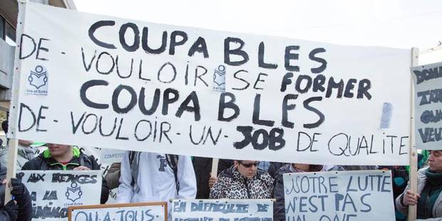 Exclusion des chômeurs: 15.000 personnes dans une dizaine de villes de Belgique - La DH