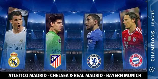 Ligue des Champions: Real Madrid-Bayern Munich et Atletico Madrid-Chelsea en demi-finales - La DH