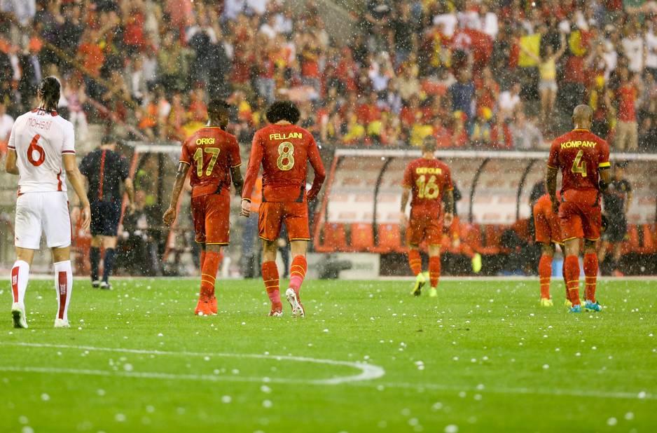 galerie de photos en images le match belgique tunisie