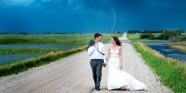 Cette photo de mariage apocalyptique fait le tour de la toile - La DH