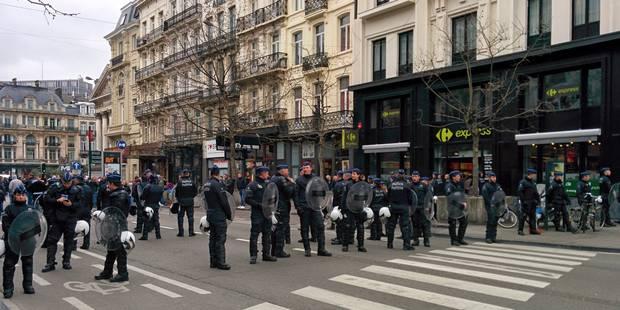 Coupe de Belgique: scènes de guerre urbaine dans les rues de Bruxelles (VIDÉO) - La DH