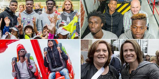 Justine Henin et quatre Anderlechtois à la Foire du Midi pour la bonne cause (PHOTOS) - La DH