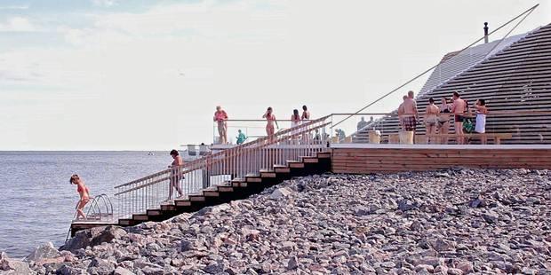 Le sauna public, la dernière tendance en Finlande - La DH