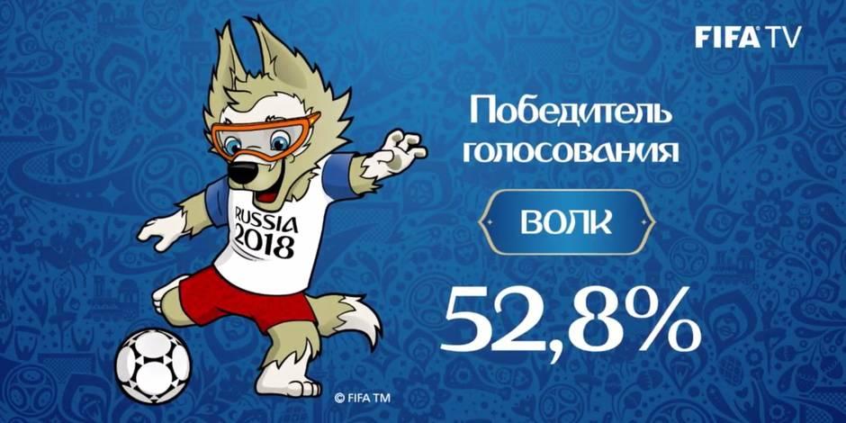Le loup lu mascotte de la coupe du monde 2018 la dh - La mascotte de la coupe du monde 2014 ...