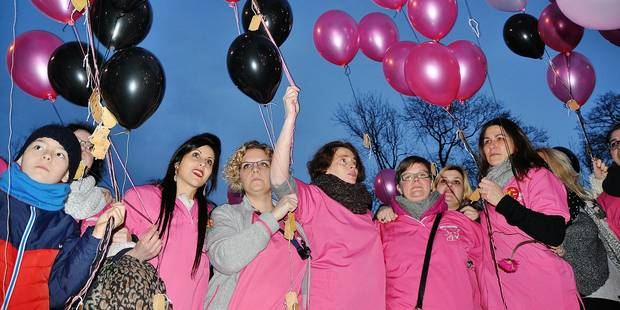 Plus de 400 ballons pour dire au revoir à la maternité de Nivelles - La DH