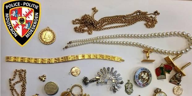 Des bijoux retrouvés à Mouscron - La DH