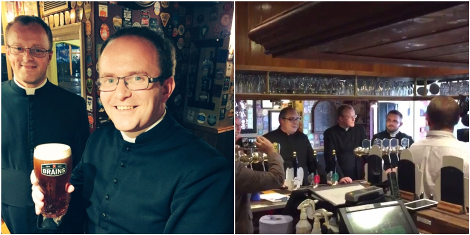 7 prêtres refoulés d'un pub :