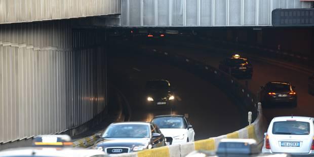 Le tunnel Louise momentanément fermé lundi après un accident avec un camion trop haut - La DH