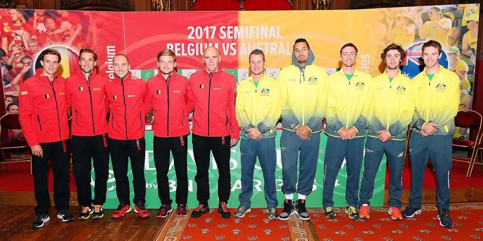En demi-finales, Belgique et Australie à égalité — Coupe Davis