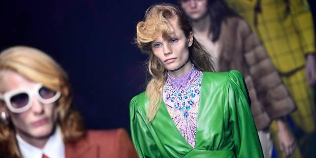 Fashion Week de Milan: Gucci en ouverture signe une ode aux années 80 - La DH