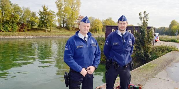 Les policiers ont plongé pour sauver des vies à Péruwelz - La DH