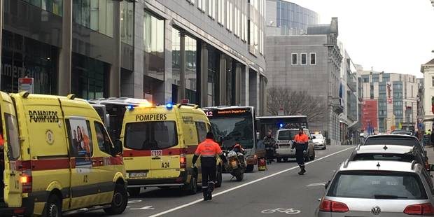 Ixelles: Un accident entre trois bus de la Stib fait six blessés - La DH
