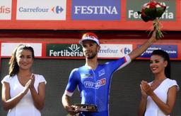 nacer bouhanni vainqueur de la 8e etape valverde toujours en rouge