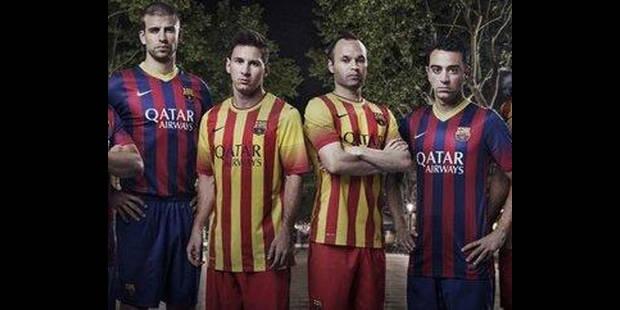 Le FC Barcelone retrouve ses rayures mais pas son bon goût - La DH