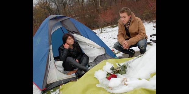 Sous tente  pour passer l'hiver