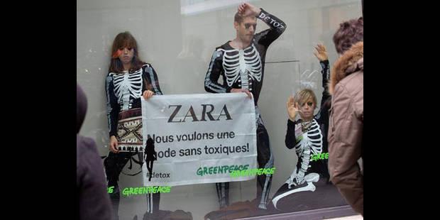 Manifestation contre les substances chimiques dans la fabrication des vêtements - La DH