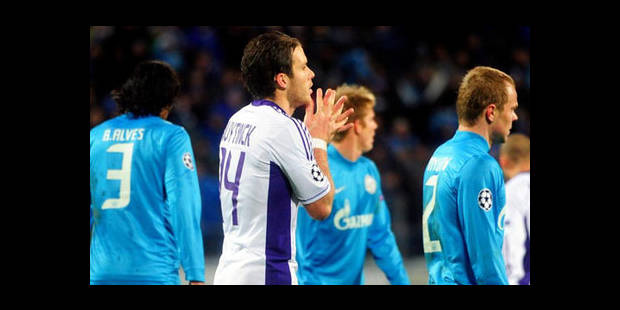 Anderlecht laisse passer sa chance au Zenit (1-0) - La DH