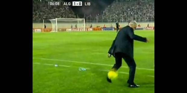 Un geste technique du coach amène un but