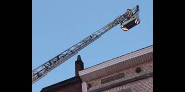 Le feu au 4ème étage d'un immeuble à Etterbeek