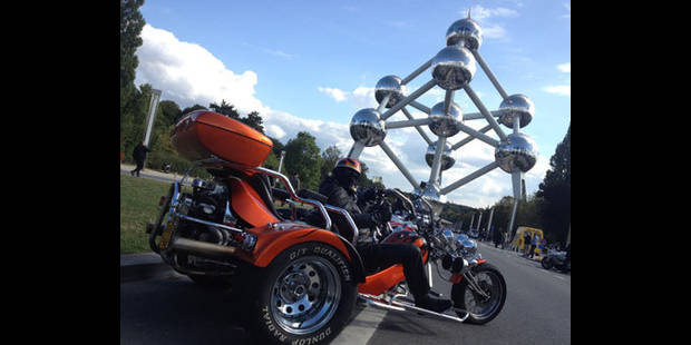 4.500 motards en col�re ont d�ferl� sur Bruxelles !