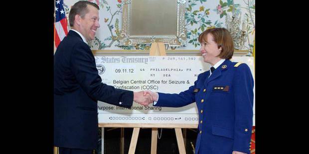 Les USA font un chèque de 625.000 euros à la Belgique - La DH