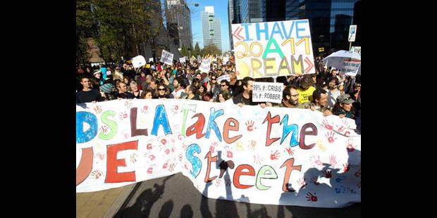 Les indignés marchent sur Bruxelles - La DH
