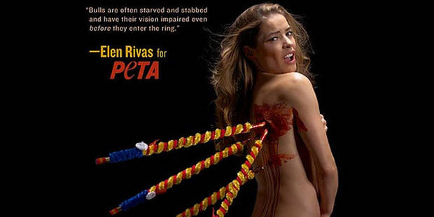 Elen Rivas nue pour la nouvelle campagne choc de PETA - La DH