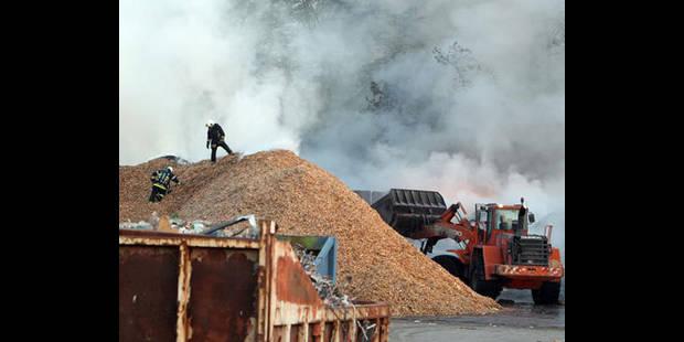 Déchets inertes en feu chez Shanks - La DH