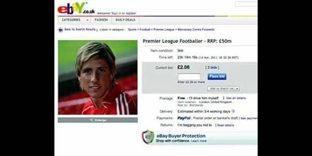 Ancelotti vend aux enchères Torres sur eBay