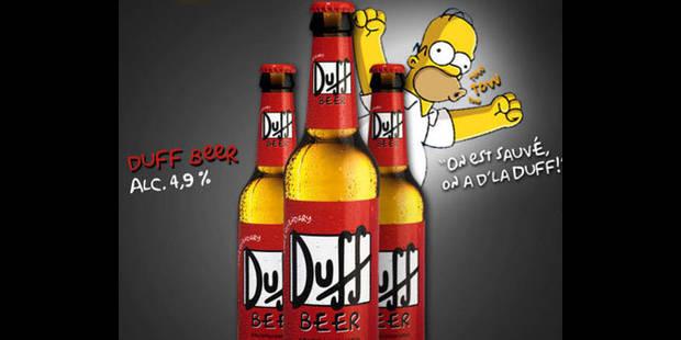 """Bière Duff: """"Pas illégale, du moins jusqu'à présent"""" - La DH"""