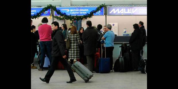 Intemp�ries: jusqu'� 3.000 passagers ont dormi � l'a�roport de Bruxelles