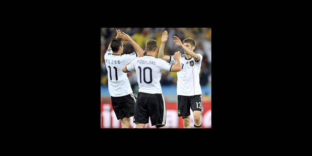 Mondial 2010: Carton de l'Allemagne contre l'Australie