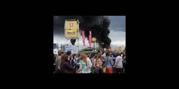 Un incendie interrompt le festival - La DH