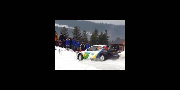 Rallye de Suède - Martin à la neige