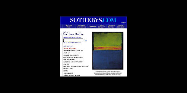 Sothebys.com ouvre enfin ses portes aux acheteurs belges - La DH