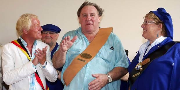 Gérard Depardieu élevé au rang de Citoyen d'honneur d'Estaimpuis - La DH