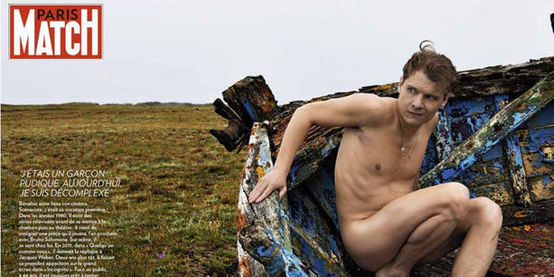 Benabar nu comme un ver dans Paris Match - La DH