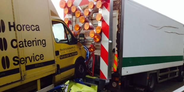 Une camionnette percute un camion-tampon - La DH