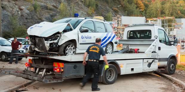 Course-poursuite à Verviers: deux véhicules de police dans le décor - La DH