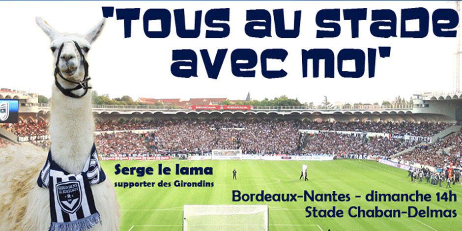 Serge le Lama, nouvelle mascotte des Girondins de Bordeaux?