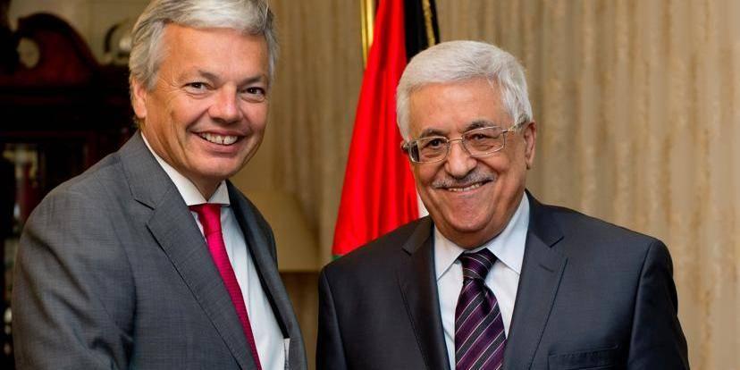 Rencontre entre Didier Reynders et Mamhoud Abbas