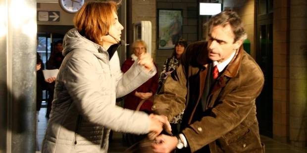 """Un couple """"fait une scène"""" à la gare - La DH"""