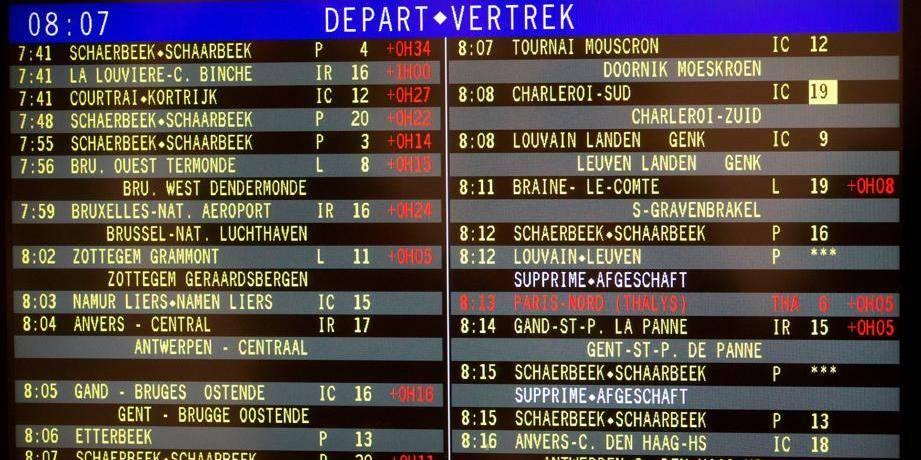 SNCB: la ponctualité des trains dans une situation encore pire qu'imaginée