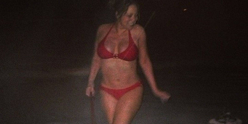 Mariah Carey en bikini dans la neige