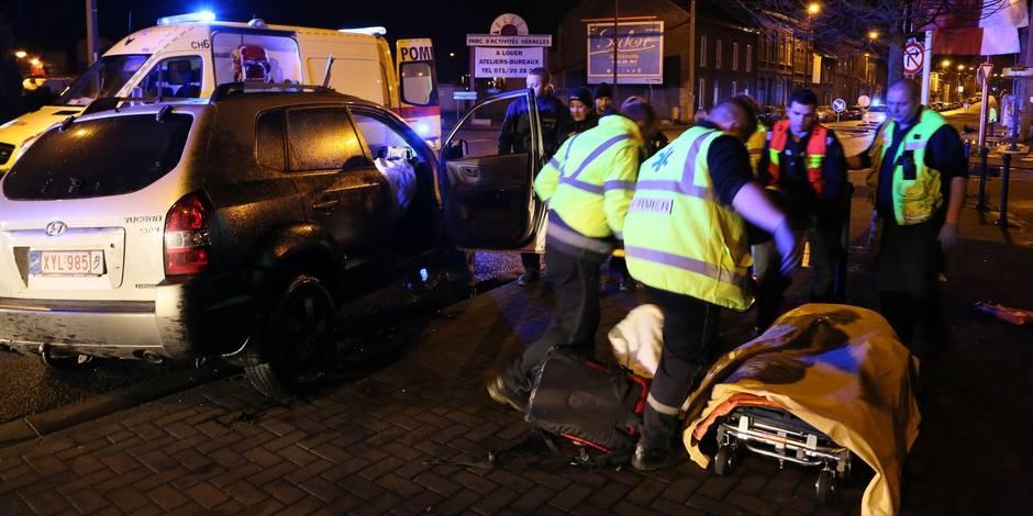 Gilly : crash spectaculaire avec une voiture volée