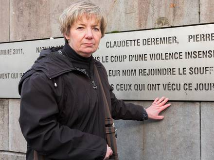 LIEGE. PORTRAIT DE MARIE-ROSE LIBIOULLE QUI MILITE AU SEIN DU COLLECTIF ALTERNATIVE. PHOTO Michel Tonneau